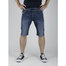 Diesel KROOLEY-short-NE CALZONCINI Jogg Jeans Modré
