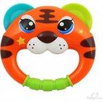 Baby Mix chrastítko hlava tygra oranžová