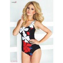 Mariss Liwia jednodílné plavky černá/červená