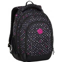 de30ada1aa Bagmaster SUPERNOVA 8 C černá šedá růžová. Tříkomorový prostorný studentský  batoh ...