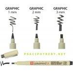 Bruynzeel-sakura XSDK02/49 Grafické pero Pigma® Graphic s archivním inkoustem Pigma® 2 mm - černé