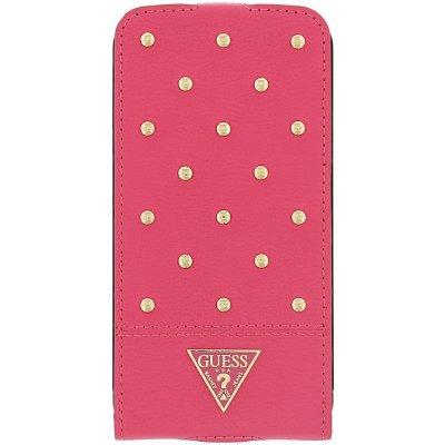 Pouzdro Guess Tessi Flip Samsung G900 Galaxy S5 růžové