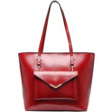 d48228a972 Miss Lulu tote kabelka s psaníčkem 1916 vínově červená