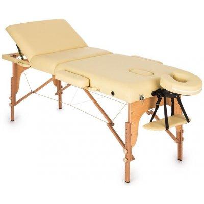 Klarfit MT 500 béžový masážní stůl 210 cm 200 kg sklápěcí jemný povrch taška MSS-MT 500 beige