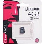 Kingston Micro SDHC 4GB Class 4 Blister