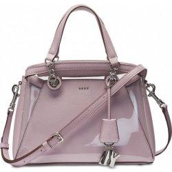 53c2fa982c DKNY Paige satchel transparentní kabelka light lavender silver ...