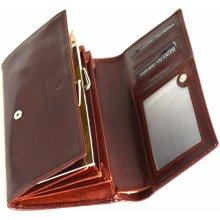 Valentini Dámská peněženka velká klasická kožená hnědá 19 x 2 x 11 SV00-563329-03KUZ