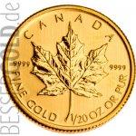 Maple Leaf Zlatá mince 1 20 Oz