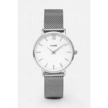 Cluse Minuit Mesh Silver/White