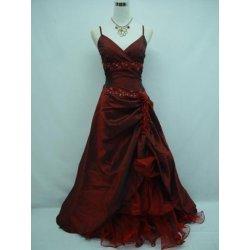 Burgundy červené dlouhé společenské plesové svatební šaty ... 8116a4f359