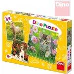 Dino Toys s.r.o. Zvířátka na zahradě Puzzle 3x55 dílků