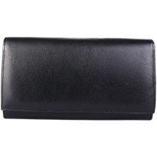 ITALSKÉ Kožená peněženka Italská černá NA 8285