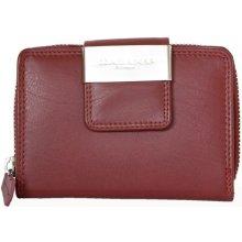 tmavě velmi kvalitní kožená peněženka červená