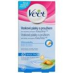 Veet Wax Strips voskové depilační pásky pro citlivou pokožku (Almond Oil & Vitamin E) 40 Ks