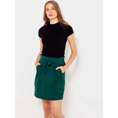 Camaieu sukně s kapsami tmavě zelená