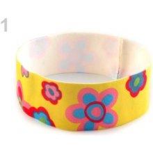 Stoklasa Dětská elastická čelenka s květy - 1 žlutá