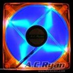 AC Ryan Blackfire4 UV-LED 92mm- orange/blue