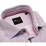 Venti Body Stretch košile s vínově černým proužkem a vnitřním límcem f0ded643c1
