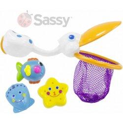 LUDI Hračky stříkací do koupele set baby dopravní prostředky 4ks do vody.