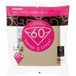 Hario Papírové filtry V60-02 Misarashi nebělené (100 ks) VCF-02-100M