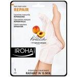 Iroha Regenerační maska na nohy a nehty s broskvovým sérem (Repair Foot Mask Socks Peach) 2 x 9 ml