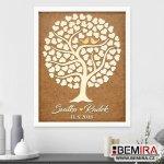 BEMIRA Svatební strom hostů (guestbook) - obraz
