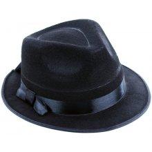 Černý sváteční dámský nebo pánský klobouk