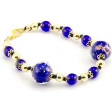 Murano náramek skleněné korálky světle modrá Laura 2 300008604