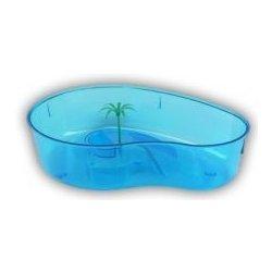 Terárium Shopakva Terárium pro želvy s palmou modré