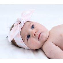 Lamama Dívčí čelenka Stripes růžovo-bílá