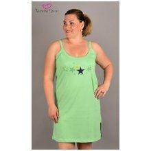 Vienetta Secret dámský župan s noční košilí na ramínka Hvězdy zelená