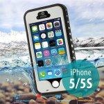 Pouzdro Redpepper Voděodolné Apple iPhone 5/5S/SE s podporou funkce Touch ID + poutko na ruku - bílé