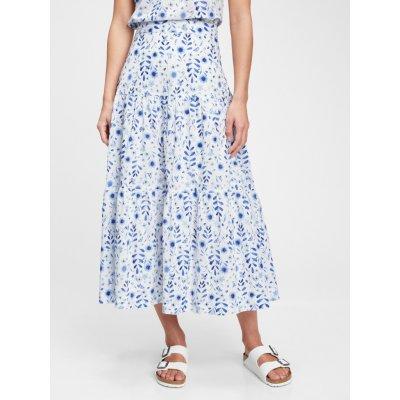 Sukně tiered maxi skirt bílá