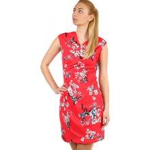 Zavinovací dámské šaty s potiskem 312034 červená fee46d5da4
