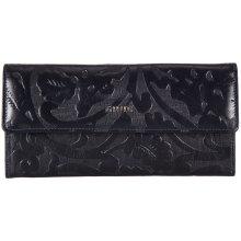 GIUDI dámská modrá kožená peněženka 7421 ERM COL