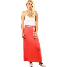 6c794d8741b TopMode dámská dlouhá jednobarevná sukně červená
