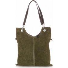 kožené kabelka světle zelená 9099207011e
