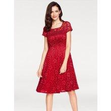 ce163a5291b0 heine TIMELESS krajkové šaty červená