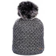 39ca063da6e Zimní pletená čepice s podšívkou a bambulí tmavě šedá