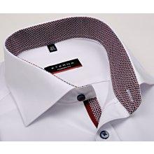 Eterna Modern Fit Chambray – bílá košile s červeno-modrým vnitřním límcem a  manžetou - 367a6dcf1e