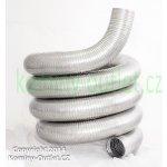 Flexibilní nerezová komínová vložka pro pevná paliva H400 (0,4 mm) 150 mm