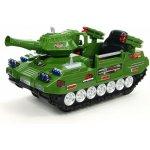 ChuChu dětský elektrický tank Hero s funkčním dělem DO FM rádiem vlastními klíči 12V zelený