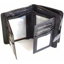 Valentini Dámská peněženka střední na výšku vybavená kožená černá 10 x 2 x 16 SV00-563ST01-09KUZ