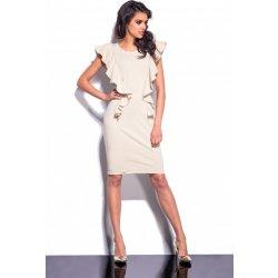 Lemoniade dámské společenské šaty s volánky dlouhé béžová ... 8a8cf807c4