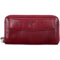 Cosset Velká dámská kožená peněženka na zip 4491 Komodo vínová od 1 ... b5e980141f