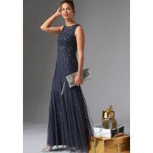 359e46124be Guido Maria Kretschmer večerní šaty námořní modř lesklá