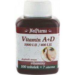 MedPharma Vitamín A+D 5000 I.U.-400 I.U. 107 kapslí
