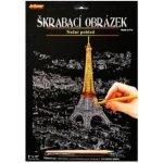 ARTLOVER Škrabací obrázek zlatý Noční pohled na Eiffelovu věž