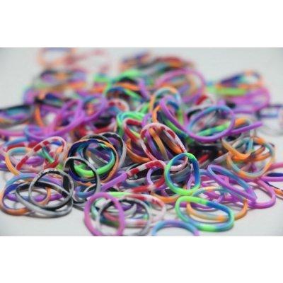Rainbow Loom original gumičky strakatý mix 600 ks