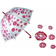 DecoDoma Dámský deštník průhledný Pusinky